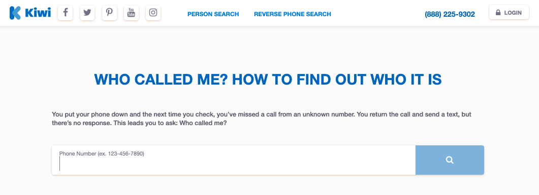 Directory of Unknown Phone Number